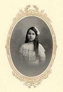 Fashion Girl Geneve Switzerland Original silver photo Fred Boissonnas 1900c L333