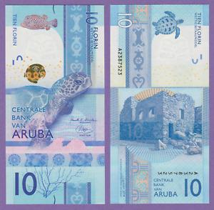 ARUBA 10 Florin P New 2019 UNC Low Shipping! Combine FREE!
