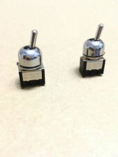 2 x On/Off 3-6A 125-250V Mini Miniature Toggle Switch Dash Dashboard SPST