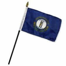 4x6 Kentucky Stick Flag State of Kentucky Stick Flag Table Staff Desk FAST SHIP