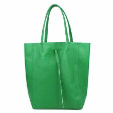 d37eedbaf9266 Damen Groß Shopper Schulter Hand Tasche Italy Echtes Leder Leather Pelle A4  NEU