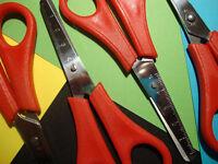 4 x Red Westcott Right Handed Kid's Children's Safety Scissors – CM Ruler Edge