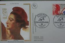 ENVELOPPE PREMIER JOUR SOIE 1988 LIBERTE PHILEXFRANCE