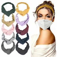 10 PCS Headband with Buttons for Face Mask Holder Headbands for Women Acces