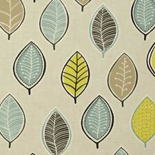 Clarke and Clarke Coco Chartreuse Leaf Design Curtain Upholstery Craft Fabric