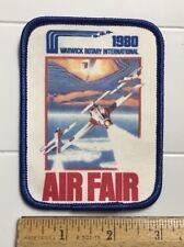 Air Fair 1980 Warwick Rotary International Air Show Printed Graphic Patch Badge