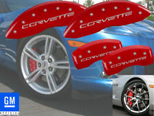 2005-2013 Chevy Corvette C6 Z51 Front + Rear Red MGP Brake Disc Caliper Covers