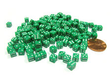 200 Six Sided D6 5mm .197 Inch Die Small Tiny Mini Miniature Green Dice