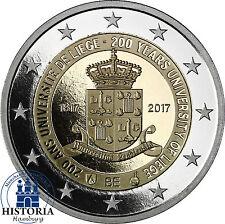Belgien 2 Euro Gedenkmünze 2017 PP 200 Jahre Universität Lüttich Münze in Etui