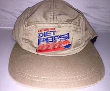 Vtg Diet Pepsi Cola 5 panel Snapback hat cap 90s deadstock soda pop rare supreme