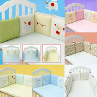 Baby Nursery Bedding Set Crib Cot Bumper Toddler Bed Comfy Protector Cushion