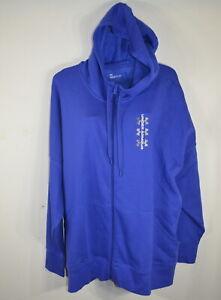 Under Armour Woman's Fleece Hoodie Full Zip 3X Loose Fit Blue NWT