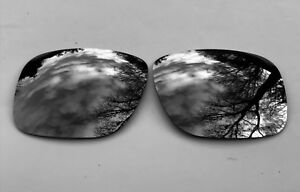 ETCHED POLARIZED BLACK MIRRORED REPLACEMENT LENSES FOR OAKLEY HOLBROOK