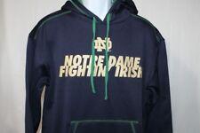 Notre Dame Sweatshirt Hoodie Blue  Mens Medium **NWT**  Russell Ath
