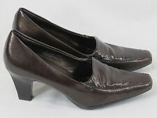 Aerosoles Brown High Heeled Loafer Shoes Size 7 M US Excellent Plus Condition