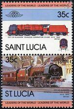 1940 LMS City of Glasgow Duchess Class 4-6-2 No.6242 Train Stamps / LOCO 100