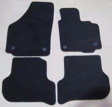 NEW GENUINE SEAT ALTEA TOLEDO 5P LUXURY FRONT + REAR BLACK CARPET FLOOR MATS SET