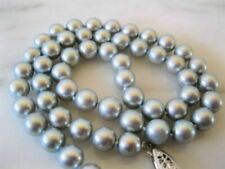 necklace 18 inch gift R-30915 7-8mm natural gray freshwater pearl