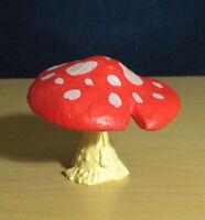 Smurfs Orange Red Mushroom Playset Rare Smurf Vintage Schleich Toy Lot PVC Peyo