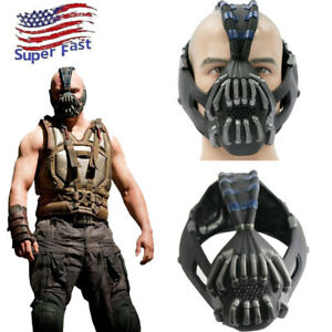 Xcoser Bane Mask Batman Cosplay Half FaceHelmet Costume Props For Adults US Ship
