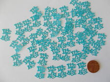 50 BLUE ITS A BOY BABY SHOWER CONFETTI TABLE SPRINKLES DECORATIONS