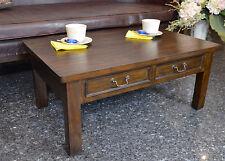 Table Basse Pour Salon Bois Massif Teck Style Colonial Marron Ancien Decoration
