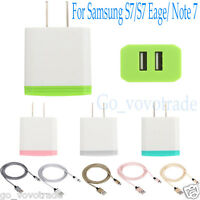 US Plug USB Charging 2 Port Wall Travel AC Charger Adapter for Samsung S7/Note 7