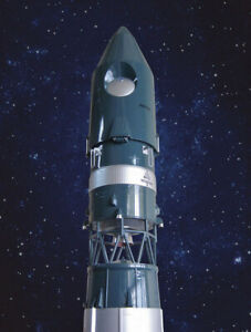BIG (2 METERS) 1:20 SCALE MODEL OF RUSSIAN ROCKET VOSTOK, MADE OF COMPOSITE