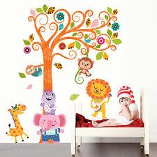 R00398 Wall Stickers Adesivi Murali Camerette Giungla dei piccoli 60x120 cm
