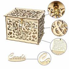 Rustic Wedding Greeting Card Box Birthday Party Decoration Supply Gift Money Box