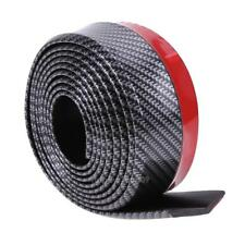 Black Soft Carbon Fiber Car Rubber Bumper Strip  Outside Bumper Front Lip v#h9