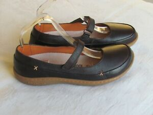 NEW Birkenstock Ladies Brown Leather Mary Jane Style Wedge Shoes Size 5 EU 38