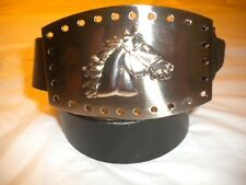 Buckle Only Buckle Size 4.25 X 3 In Brand New Big Buckle With A Horse Silver