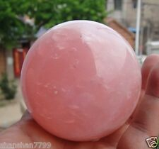 NATURAL PRETTY Pink ROSE QUARTZ CRYSTAL SPHERE BALL HEALING 65MM + free stand