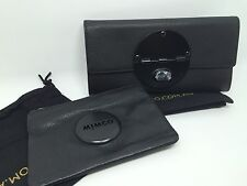 TURNLOCK WALLET Black Leather Matt Black And SMALL POUCH