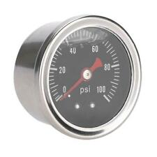 0-100 PSI/bar Car Fuel Pressure Regulator Gauge Liquid Fill Fuel Meter SS