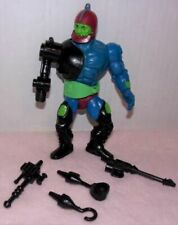 VINTAGE 1985 MOTU HE-MAN TRAPJAW WITH 4 WEAPONS. COMPLETE.