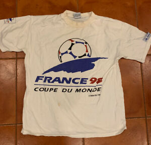 World Cup France 98 Vintage Soccer T-Shirt Classic Coupe Du Monde XL Football