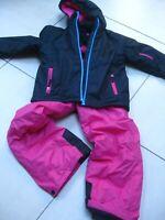2 piece kids girls boys CRANE SKI SUIT 7 8 years jacket salopettes pink black