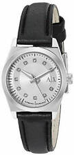 Armani Exchange Ladies Black Leather Strap Watch AX5332