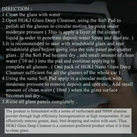 All-Purpose GLASS MARKS REMOVER Cleaner Car polishing H6Q0 Hot. V Clean R6W4