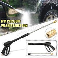 3000PSI High Pressure Washer Car Cleaner Lance Gun +Extension Wand M14  #U