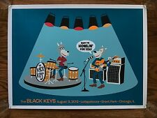 Black Keys Paul Frank 28/50 Lollapalooza Art Signed Numbered Screen Print