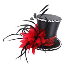 Victorian Feather Fascinator Top Hat Wedding Party Prom Womans Fancy Dress