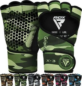 RDX Weight Lifting Gym Grips Long Straps Gripper Gloves Fitness Training Workout
