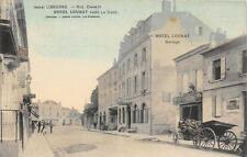 CPA 33 LIBOURNE RUE CHANZY HOTEL LOUBAT PRES LA GARE (cliché colorisé pas couran