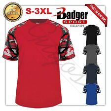 Camouflage Badger Adult Camo Colorblock Short-Sleeve Sport T-Shirt,S-3XL, BG4141