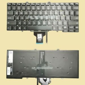 New for DELL Latitude 3400 7400 7410 Keyboard US BACKLIT, No Pointer , No Frame