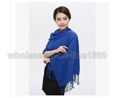 100% Pashmina Cashmere Silk Solid Shawl Wrap Unisex Long Range Scarf Fashion New
