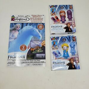 """Disney Frozen II Activity Kit Colorforms 40 Stickers Story and 2 Mold n"""" Play"""